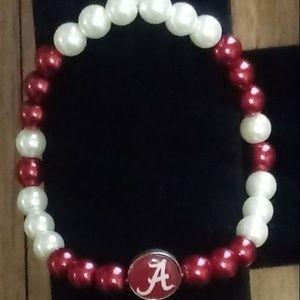 Alabama Crimson Tide  Charm Bracelet